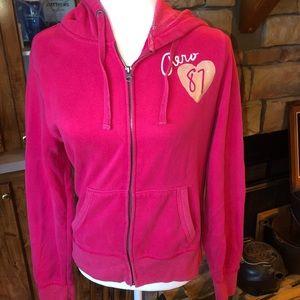 Aeropostale darker pink size Large hoodie in EUC